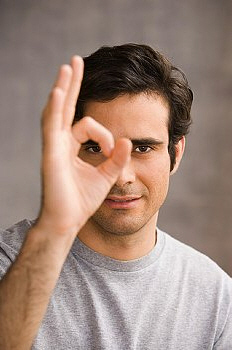 OK Hand Sign. 'OK' to a Westerner, 'money' to a Japanese, 'zero' to the ...